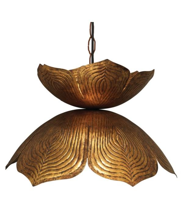 Lg Flowering Lotus Pendant