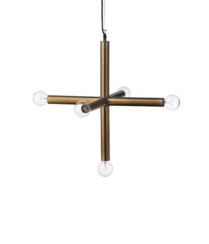 Lg Moda Pendant Antique Brass