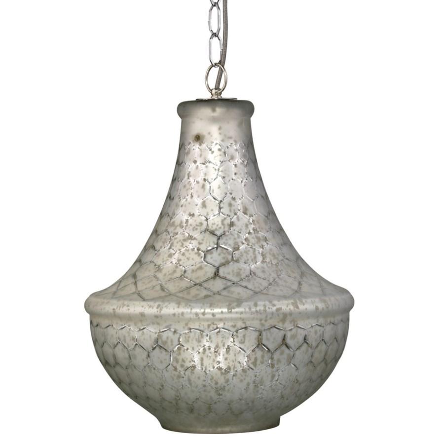 Nimbus Chandelier in Silver Lattice Glass