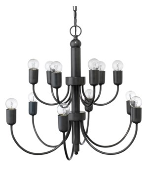 Savoy Chandelier, Oiled Bronze