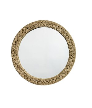 Braided Round Jute Mirror in Jute