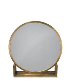 Odyssey Antique Brass Standing Mirror