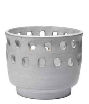 Perforated White Pot, Large