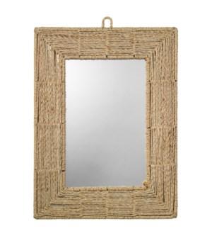 Rect Mirror in Jute