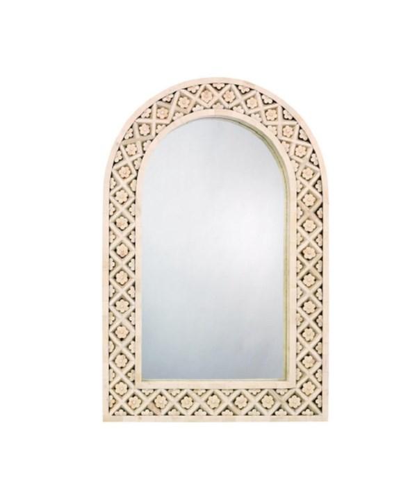 Royal Palace Mirror in White Bone
