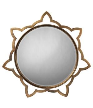 Sm Sante Mirror in Antique Brass
