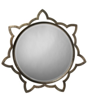 Sm Sante Mirror in Antique Silver