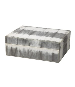 Tie Dyed Box in Grey Tie Dye Canvas