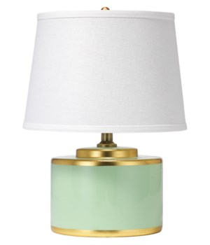 Basin Table Lamp in Teal Ceramic
