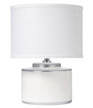 Basin Table Lamp in White Ceramic