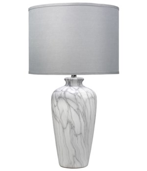 Bedrock Table Lamp in Marbeled Ceramic