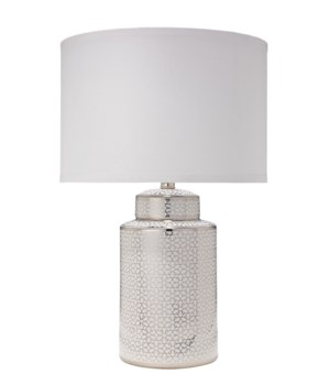 Celeste Silver and White Ceramic Table Lamp