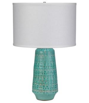Lg Coco Table Lamp in Ocean Ceramic
