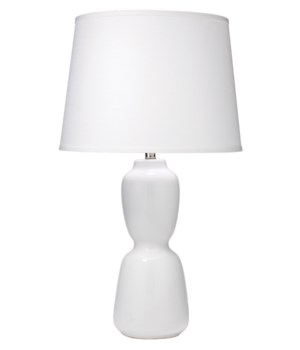 Corset Table Lamp in White Ceramic