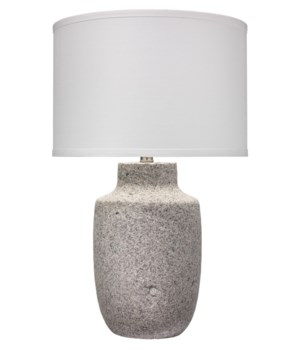 Lg Gravel Table Lamp in Grey Paper Clay