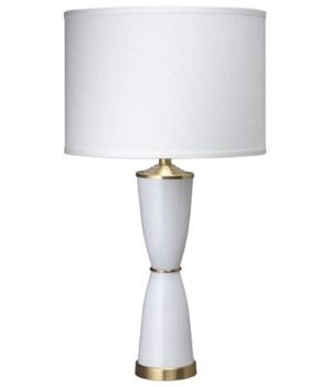 Lido Table Lamp in White Glass