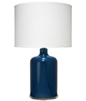 Napa Table Lamp in Navy Glass