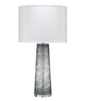 Pebble Grey Glass Table Lamp