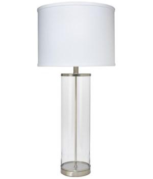 Rockefeller Table Lamp in Nickel