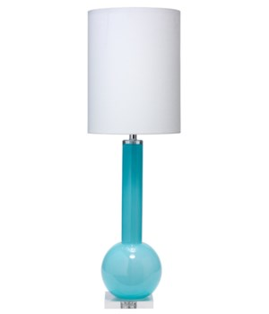 Studio Table Lamp in Blue Glass