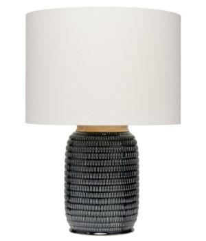 Graham Table Lamp in Dark Navy Ceramic