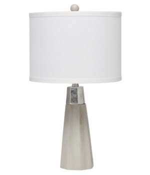 Darcy Table Lamp in Grey Cement