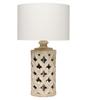 Starlet Table Lamp in White Washed Resin