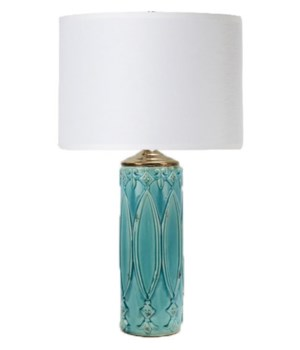 Tabitha Table Lamp in Turquoise Ceramic