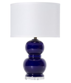 Bubble Ceramic Table Lamp in Navy