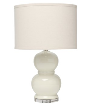 Bubble Ceramic Table Lamp in Cream Ceramic