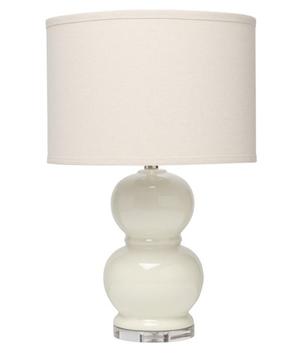 Bubble Ceramic Table Lamp in Cream Ceramic