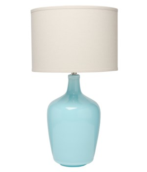 Plum Jar Table Lamp in Blue Ceramic