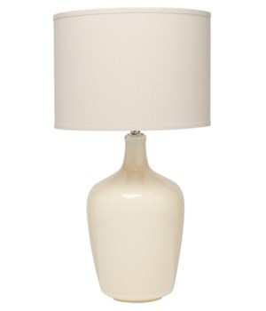 Plum Jar Table Lamp in Cream Ceramic