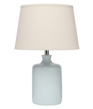 Light Blue Milk Jug Table Lamp