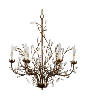 6 Light Iron Branch Chandelier