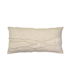 Indio Cream Macrame Pillow