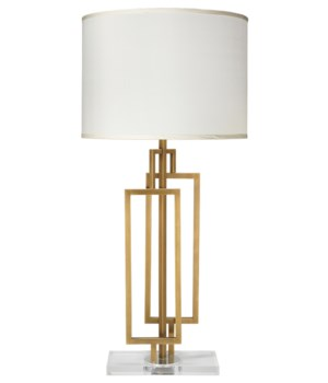 Romeo Table Lamp, Antique Brass