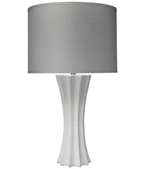 Sand Dollar Table Lamp, Matte White