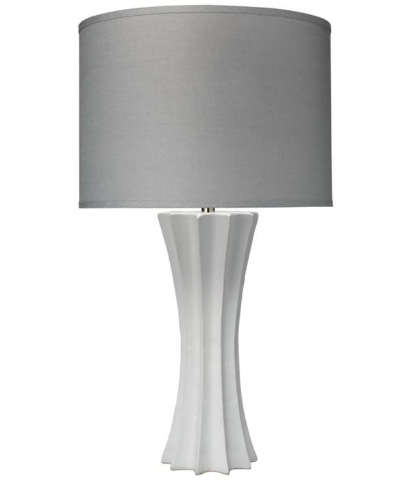 Sand Dollar Table Lamp, Matte White