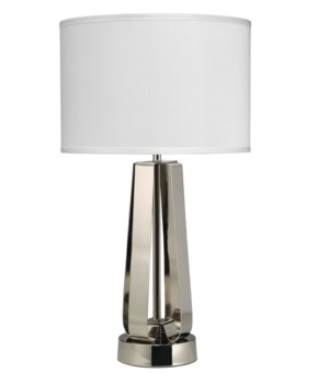 Strap Table Lamp, Nickel