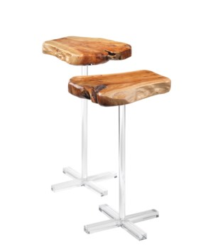 Arbor Side Tables, Natural Fir Wood, Set of 2