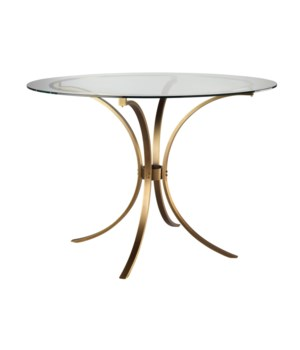 Criterion Center Table, Antique Brass