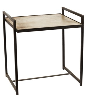Large Steel Velum Side Table