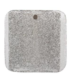 Perignon Square Wall Sconce, Antique Silver