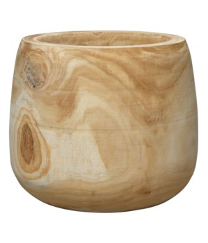 Brea Wooden Vase, Natural
