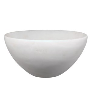 Georgina Bowl, White Faux Alabaster