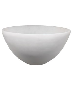 Large Georgina Bowl, White Faux Alabaster