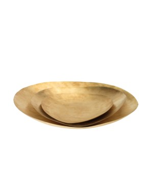 Helios Platters, Matte Brass, Set of 3