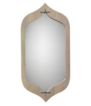 Jasmine Mirror, Grey Washed