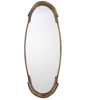 Margaux Mirror, Antique Brass